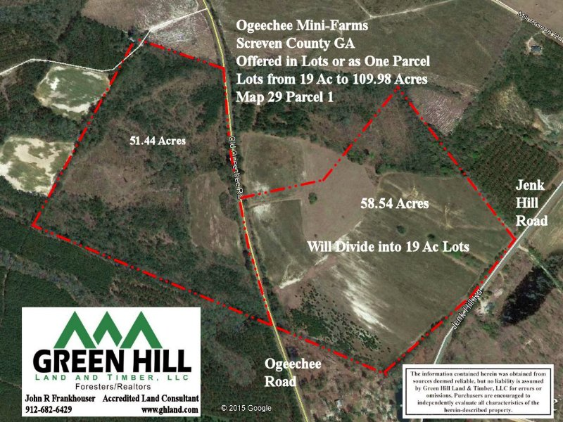 Jenk Hill Mini Farms : Sylvania : Screven County : Georgia