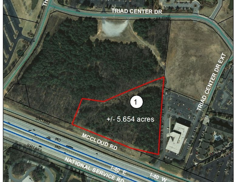 5.65 Acre Commercial Tract Near I40 : Greensboro : Guilford County : North Carolina