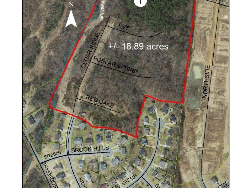 19 Acres Of Development Land-nc : Burlington : Alamance County : North Carolina