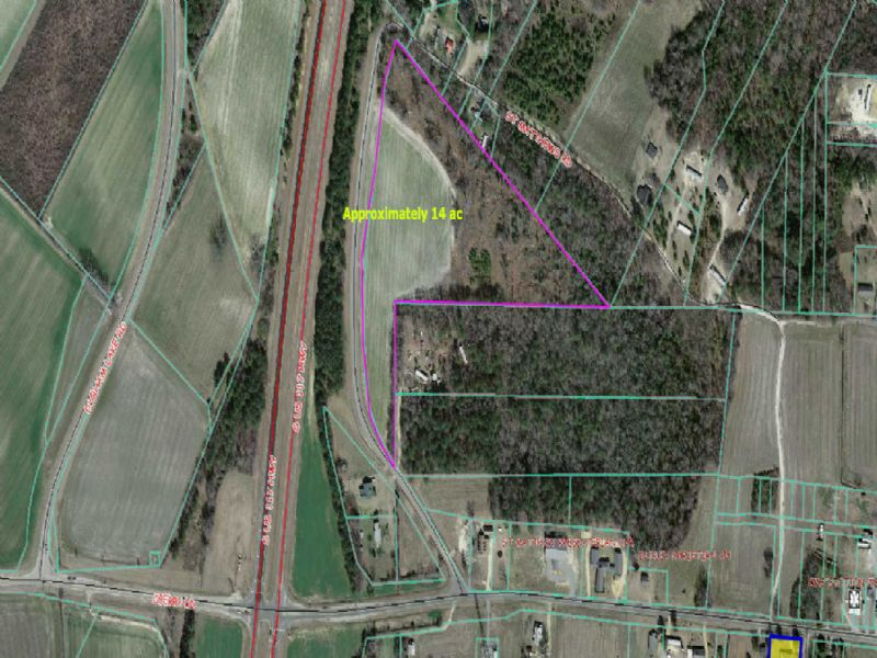 14.74 Acres +or- App. 6-ac Cleared : Dudley : Wayne County : North Carolina