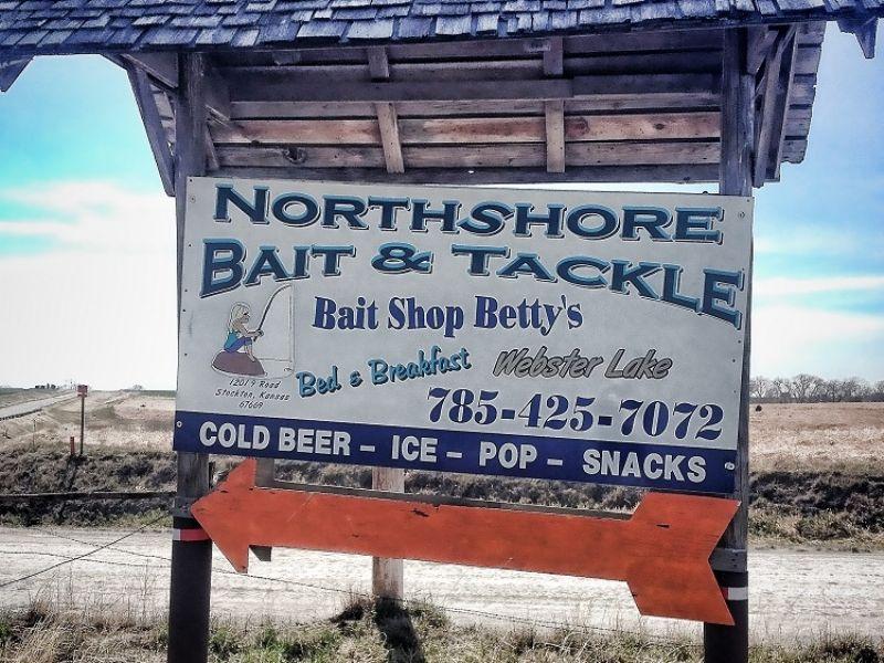 North Shore Bait, Tackle & Cabin : Stockton : Rooks County : Kansas