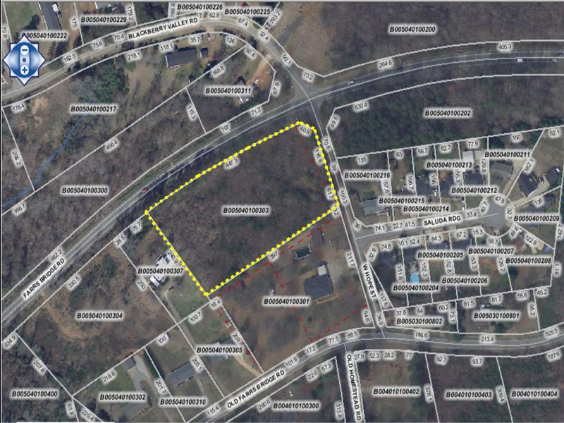 2.80 Acre Unrestricted Lot : Berea : Greenville County : South Carolina