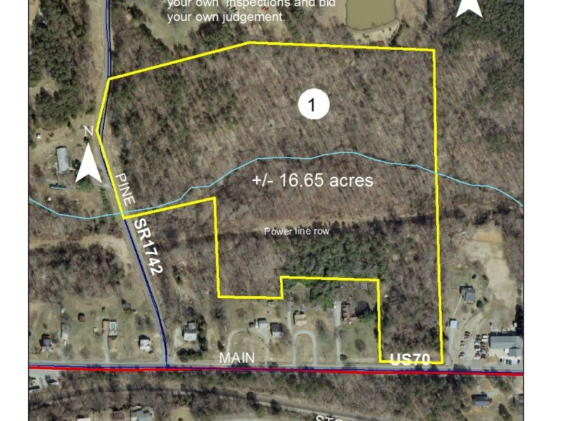 16.65 Acres Fronting Highway 70 : Haw River : Alamance County : North Carolina