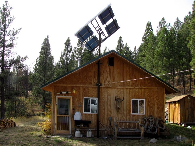 Cabin On 20 Forested Acres : Wolf Creek : Lewis and Clark County : Montana