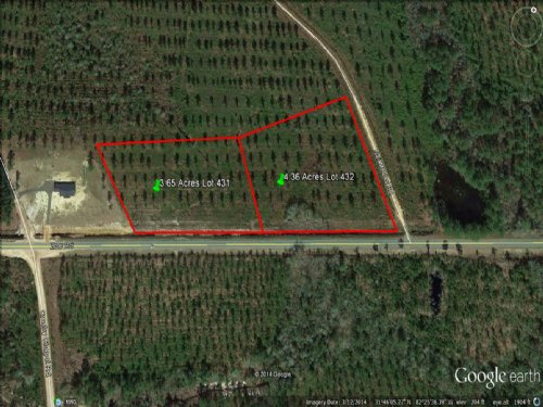Owner Financing 4.36 Acres Paved Rd : Baxley : Appling County : Georgia