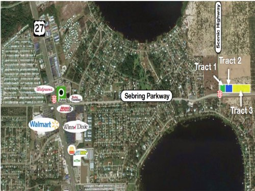 3 Tracts Of  Vacant Commercial Land : Sebring : Highlands County : Florida