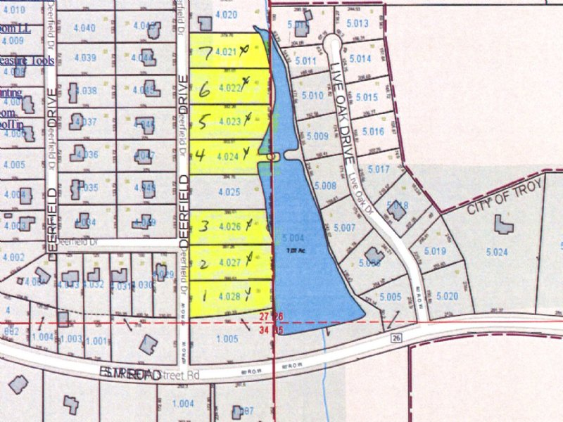 7 - 1 Acre Lots In Pinewood Estates : Troy : Pike County : Alabama