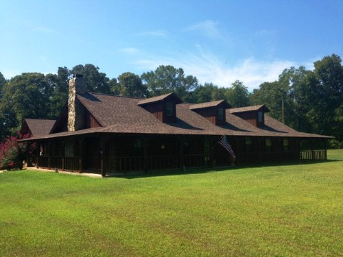 Log Home On 12 +/- Ac : Troy : Pike County : Alabama