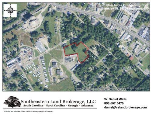2.9 Acres : Orangeburg : South Carolina